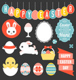 easter ornament headline and icon vector image