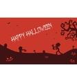 Happy Halloween zombie pumpkins tomb backgrounds vector image