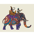 Indian ornate maharajah on the elephant vector image