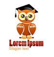 Logo owl vector image