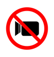 No video camera sign icon on white background vector image