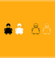old woman it is white icon vector image