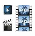 Set of Movie icon design elements and cinema icons vector image