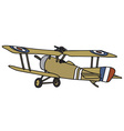 Vintage military biplane vector image