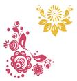 russian floral designs vector image