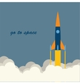 rocket go to space vector image