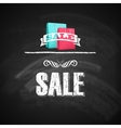 vintage poster with shopping bag sale concept with vector image