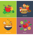 set of flat design concept for food vector image vector image