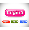 web login icon vector image vector image