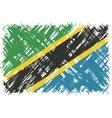 Tanzanian grunge flag vector image vector image
