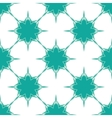 Snowflakes background in blue-green colors vector image vector image
