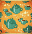 coffee break retro vector image vector image