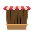 circus game booths border wooden blank vector image