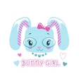 Cute girlish for baby girl vector image