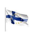 finland national flag with a star circle of eu vector image