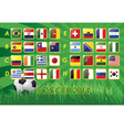 National Team Flags for soccer 2014 vector image