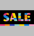 sale poster with memphis colorful geometric design vector image