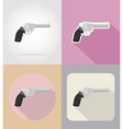 weapon flat icons 16 vector image
