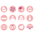 Wedding icons in retro style isolated on white vector image vector image