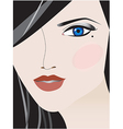 make up face vector image vector image