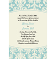 Invitation with rich background Renaissance vector image vector image