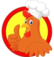 Rooster chef cartoon giving thumb up vector image