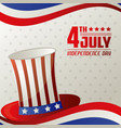 4th july independence day card memorial vector image