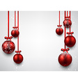 Background with red christmas balls vector image
