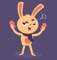 Angry Bunny Tearing a Heart Apart vector image