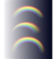 Transparent Rainbows in Different Shapes vector image