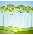 Abstract spring tree vector image