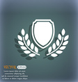 Blank award medal icon On the blue-green abstract vector image