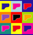 concert grand piano sign pop-art style vector image