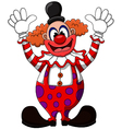cute clown cartoon vector image