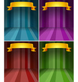 Four different color stages with ribbon vector image
