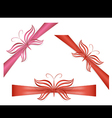 Gift ribbons with butterflies vector image