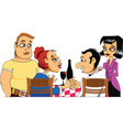 Meeting friends cartoon vector image
