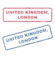 united kingdom london textile stamps vector image