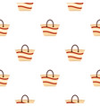 women beach bag pattern flat vector image
