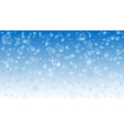 Background of falling snowflakes vector image