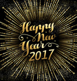Happy New Year 2017 gold holiday background vector image