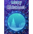 Window with Christmas Background vector image vector image