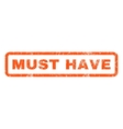 Must Have Rubber Stamp vector image