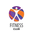 logo fitness vector image