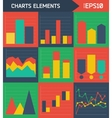 Modern flat charts elements background vector image vector image