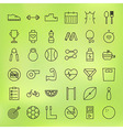 Sport and Healthy Lifestyle Line Big Icons Set vector image vector image