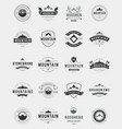 Set Mountains Logos Badges and Labels vector image