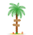 palm tree with sign 01 vector image vector image