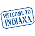 Indiana - welcome blue vintage isolated label vector image