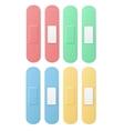 Aid Band Plaster Strip Medical Patch Set Color vector image